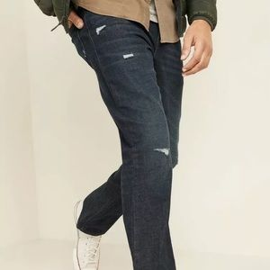 Ripped Bootcut Vintage Denim Distressed Jeans